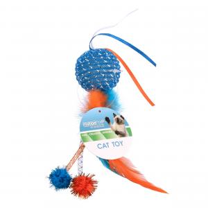 Multipet Mesh Feather Ball Cat Toy