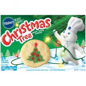 Pillsbury Christmas Tree Shape Sugar Cookies