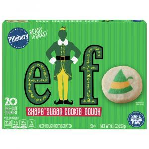 Pillsbury Ready To Bake Elf Shape Sugar Cookie Dough