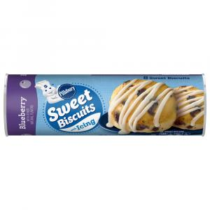 Pillsbury Sweet Biscuits with Icing Blueberry