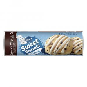 Pillsbury Sweet Biscuits with Icing Chocolate Chip