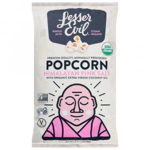 Lesser Evil Buddha Bowl Organic Himalayan Pink Popcorn