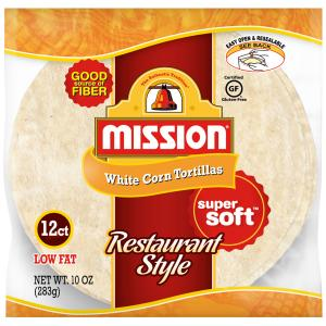 Mission Restaurant Style White Corn Tortillas