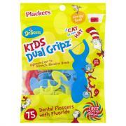Plackers Dr. Seuss Kids Dual Gripz Dental Flossers