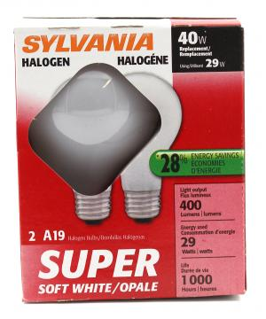 Sylvania 28-watt Halogen Super Saver Soft White Bulbs