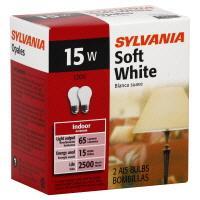 Sylvania 15 Watt A15 White Light Bulbs