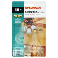 Sylvania 40 Watt Clear Ceiling Fan Bulbs