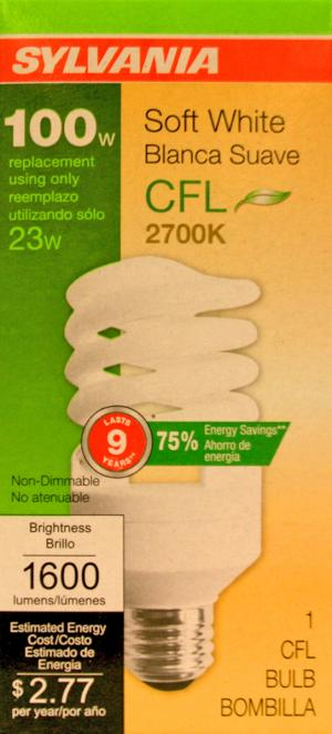 Sylvania 23 Watt Soft White Compact Fluorescent Light Bulb