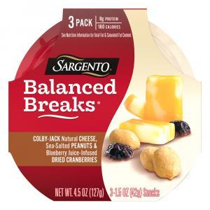 Sargento Balanced Breaks Colby Jack,peanut,cranberries