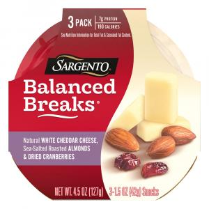Sargento Balanced Breaks White Cheddar, Almonds, Cranberries