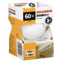 Sylvania 60 Watt Globe Double Life Soft White Bulb
