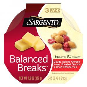 Sargento Balanced Breaks Gouda, Honey Roasted Peanuts
