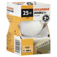 Sylvania 25 Watt Globe Double Life White Bulb