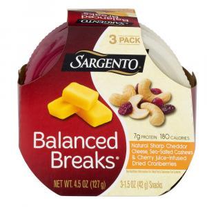 Sargento Balanced Breaks Sharp Cheddar, Cashews, Cranberries