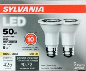 Sylvania Led 6 Watt Indoor/outdoor Bulbs