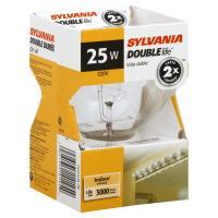 Sylvania 25 Watt Globe Double Life Bulb