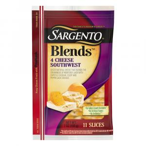 Sargento Blends 4 Cheese Southwest Sliced