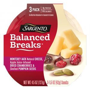 Sargento Balanced Breaks Monterey Jack, Cranberry, Pumpkin