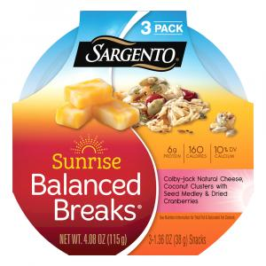 Sargento Sunrise Balanced Breaks Colby Jack, Coconut Cluster