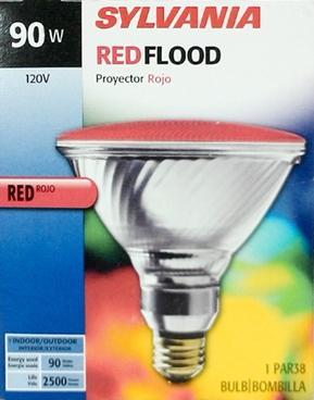 Sylvania 90 Watt Red Flood Bulb