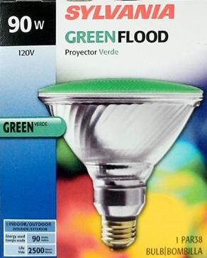 Sylvania 90 Watt Green Flood Bulb