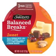 Sargento Sweet Balanced Breaks Cheddar, Graham Crackers