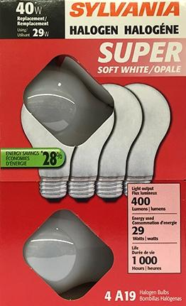 Sylvania 28 Watts Halogen Soft White