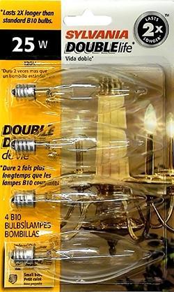 Sylvania 25 Watt Decor Candle Double Life