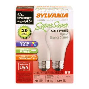 Sylvania 43-watt Halogen Super Saver Soft White Bulbs