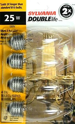 Sylvania 25 Watt Decor Medium Double Life