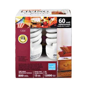 Sylvania Living Spaces 13 Watt Cfl Bulbs