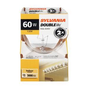 Sylvania 60 Watt Globe Double Life Bulb