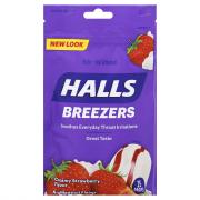 Halls Cool Creamy Strawberry Fruit Breezers Cough Drops