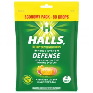 Halls Defense Eco-Bag Vitamin C Assorted Citrus Drops