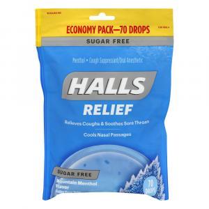 Halls Eco-Bag Sugar Free Mountain Menthol Cough Drops