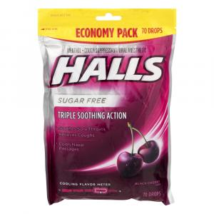 Halls Sugar Free Black Cherry Cough Drops