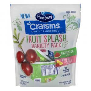 Ocean Spray Craisins Fruit Splash Variety Pack