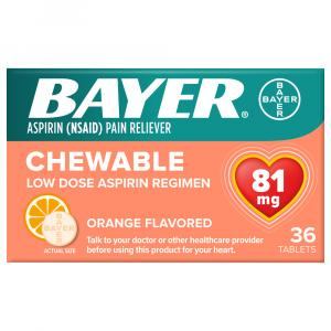 Bayer Chewable Low Dose Orange Flavored Baby Aspirin