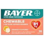 Bayer Chewable Low Dose Orange Flavored Baby Aspirin