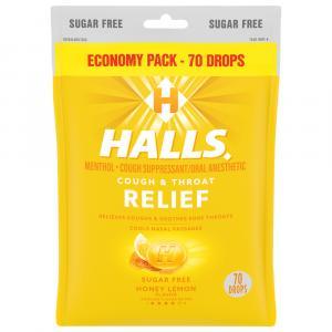 Halls Sugar Free Honey Lemon Drops Economy Pack