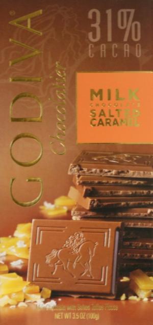Godiva Milk Chocolate Salted Caramel Tablet