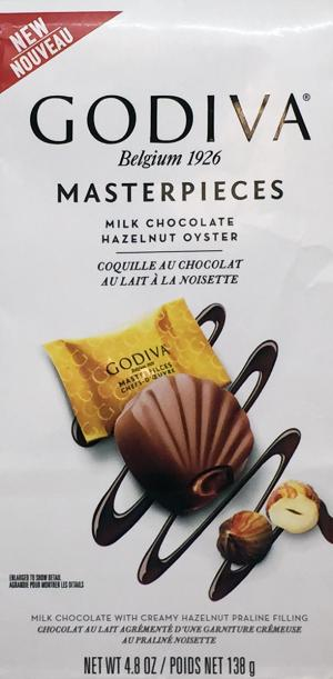 Godiva Masterpiece Milk Chocolate Hazelnut Oyster Candy
