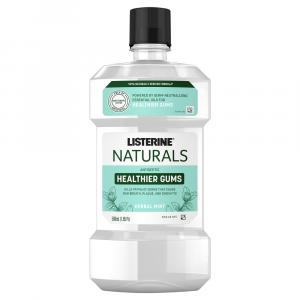 Listerine Naturals Antiseptic Healthier Gums Herbal Mint