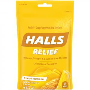Halls Plus Honey Lemon Cough Drops