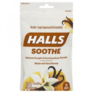 Halls Honey Vanilla Cough Suppressant Drops
