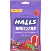 Halls Cool Berry Fruit Breezers Cough Drops