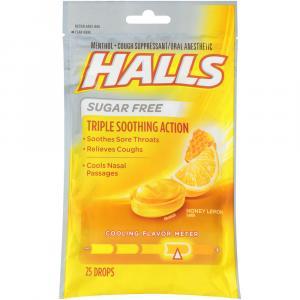 Halls Defense Sugar Free Honey Lemon Drops