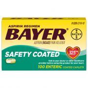 Bayer Aspirin Regimen 325mg Enteric Coated Caplets