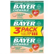 Bayer Orange Chewable Baby Aspirin Tablets