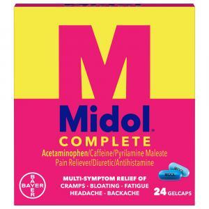 Midol Complete Maximum Strength Menstrual Formula Gelcaps